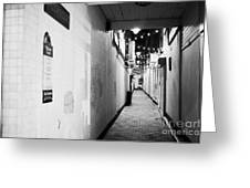 Wilson's Court One Of The Entries Oldest Streets In Belfast Northern Ireland Uk United Kingdom Greeting Card by Joe Fox