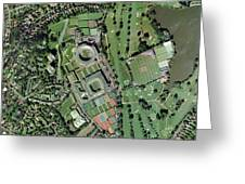 Wimbledon Tennis Complex, Uk Greeting Card by Getmapping Plc
