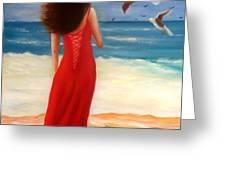 Wind Blown Beach Greeting Card by Joni McPherson