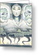 Wind Spirit Dances Greeting Card by Amy S Turner