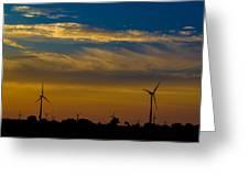 Windfarm Greeting Card by Drew Wing