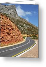 Winding Costal Road Between Gordon's Bay And Betty's Bay Greeting Card by Sami Sarkis