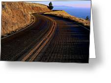 Winding Road Greeting Card by Garry Gay