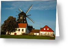 Windmill - Sweden Greeting Card by Joshua Benk