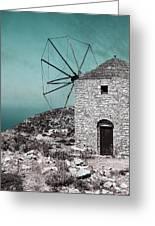 Windmill Greeting Card by Joana Kruse