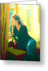 Window Seat Afternoon Light Greeting Card by Thomas Bertram POOLE