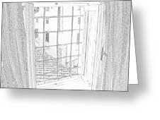 Window To History Greeting Card by Michael Belgeri