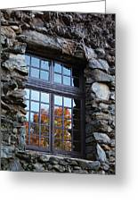 Window To The World Greeting Card by Sandi Blood