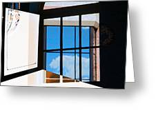 Window Treatment Greeting Card by Lenore Senior