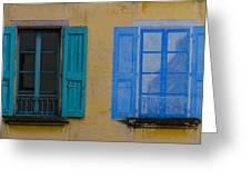 Windows Greeting Card by Debra and Dave Vanderlaan