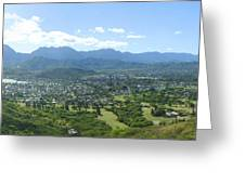 Windward Oahu Panorama I Greeting Card by David Cornwell/First Light Pictures, Inc - Printscapes