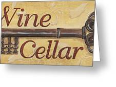 Wine Cellar Greeting Card by Debbie DeWitt