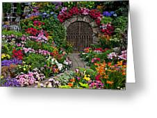 Wine Celler Gates  Greeting Card by Garry Gay