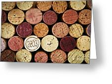 Wine Corks Greeting Card by Elena Elisseeva