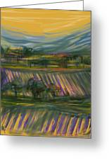 Wine Country Greeting Card by Russell Pierce