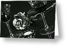 Wine For Two Greeting Card by Joana Kruse