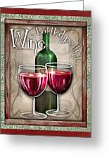 Wine Poetry Greeting Card by Sharon Marcella Marston