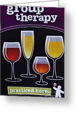Wine Poster Greeting Card by Marsha Heiken
