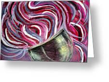 Wine Swirl Greeting Card by Janice Gelona