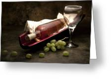 Wine With Grapes And Glass Still Life Greeting Card by Tom Mc Nemar
