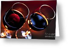Wineglasses Greeting Card by Elena Elisseeva