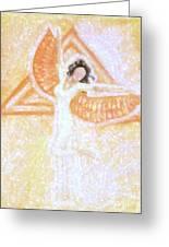 Winged Goddess Greeting Card by Cassandra Geernaert