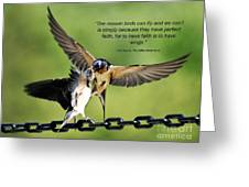 Wings Of Faith Greeting Card by Diane E Berry