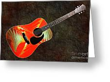 Wings Of Paradise Abstract Guitar Greeting Card by Andee Design