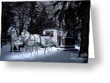 Winter Departure   Greeting Card by Tom Straub