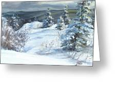 Winter Escape Greeting Card by Patricia Seitz