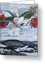 Winter Flowers Greeting Card by Tilly Strauss