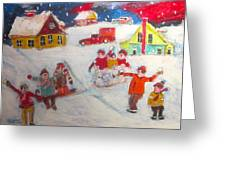 Winter Friends Greeting Card by Michael Litvack