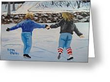Winter Fun Greeting Card by Norm Starks