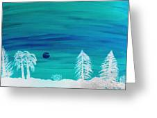 Winter Glow Greeting Card by Jeannie Atwater Jordan Allen