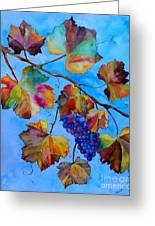 Winter Grapes Greeting Card by Fred Meehan