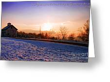 Winter Landscape Connecticut USA Greeting Card by Sabine Jacobs