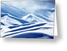 Winter Mountain Ski Resort Greeting Card by Anna Omelchenko