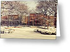Winter - New York City Greeting Card by Vivienne Gucwa