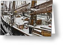 Winter On Deck Greeting Card by Heiko Koehrer-Wagner