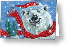 Winter Really Is A Blast Greeting Card by Richard De Wolfe