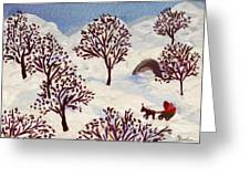 Winter Ride Greeting Card by Marina Gershman