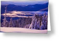 Winter Snow, Cascade Range, Oregon, Usa Greeting Card by Craig Tuttle