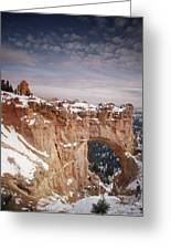Winter Snow Covers The Eroded Natural Greeting Card by Gordon Wiltsie