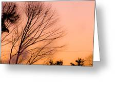Winter Sunrise Greeting Card by Laurie Breton