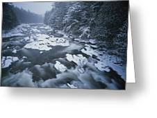 Winter View Of The Ausable River Greeting Card by Michael Melford