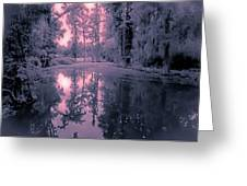 Winterland in the Swamp Greeting Card by DigiArt Diaries by Vicky B Fuller