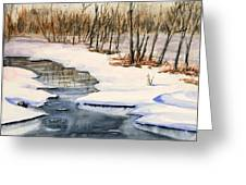 Winters Delight Greeting Card by Kristine Plum