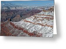 Winter's Touch At The Grand Canyon Greeting Card by Sandra Bronstein
