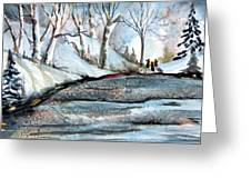 Wisemen Greeting Card by Mindy Newman