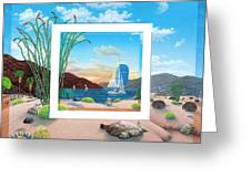 Wish You Were Here Greeting Card by Snake Jagger